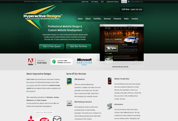 Hyperactive Designs, Gold Coast website design